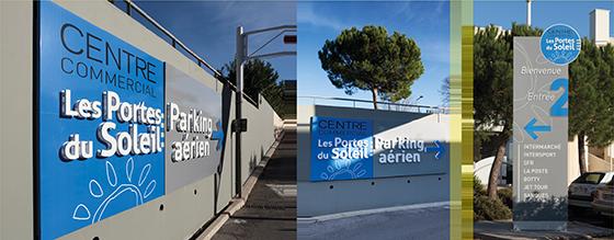 """Enseigne & Signalétique - Centre commercial """"Les portes de soleil"""" 34"""